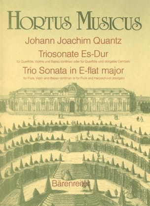 Triosonate Es-Dur - Flöte, Violine Bc (o. Flöte u. obl. Cembalo) - laflutedepan.com