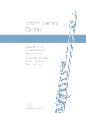 Triosonate G-Dur - 2 Flöten und BC QUANTZ Partition laflutedepan