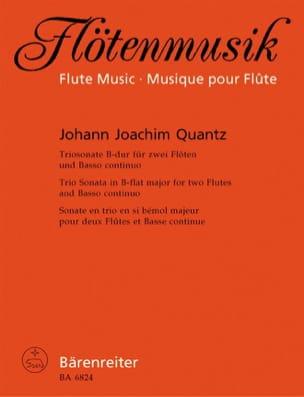 Johann Joachim Quantz - Triosonate B-Dur – 2 Flöten Bc - Partition - di-arezzo.fr
