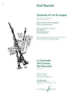 Johann Stamitz - Concerto pour Clarinette en Sib Majeur - Partition - di-arezzo.fr