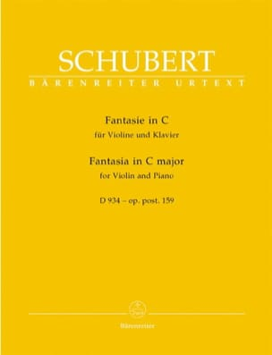 SCHUBERT - Fantasy in C Major, D 934 op. posth. 159 - Sheet Music - di-arezzo.co.uk