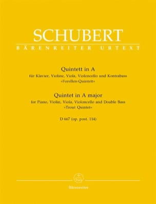Franz Schubert - Quintet of Trout in Major D 667 - Instrumental parts - Sheet Music - di-arezzo.co.uk