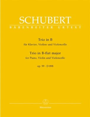 SCHUBERT - Klaviertrio B-Dur op. 99 D 898 - Stimmen - Sheet Music - di-arezzo.co.uk