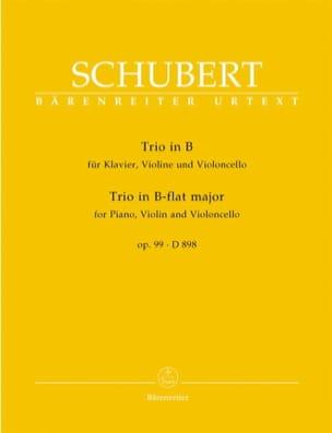 SCHUBERT - Klaviertrio B-Dur op. 99 D 898 - Stimmen - Sheet Music - di-arezzo.com