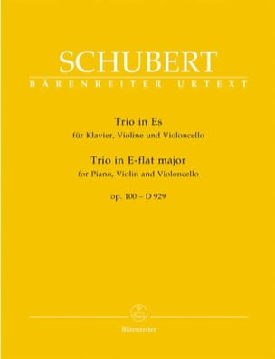 SCHUBERT - Trio in E Flat Major op. 100 - D 929 - Sheet Music - di-arezzo.co.uk