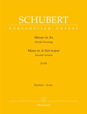 SCHUBERT - Messe in As-Dur D. 678 zweite Fassung - Partitur - Partition - di-arezzo.fr