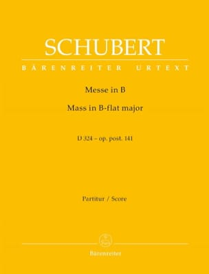 Franz Schubert - Messe in B-Dur D. 324 op. post. 141 - Partitur - Partition - di-arezzo.fr