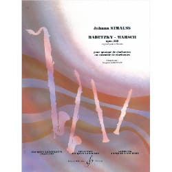 Johann (Fils) Strauss - Radetzky-Marsch - Clarinet Quartet - Sheet Music - di-arezzo.co.uk