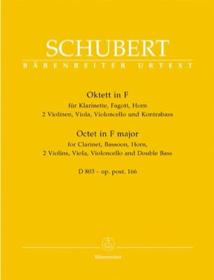 SCHUBERT - Octet in F Major D. 803 Op. Posth 166 - Sheet Music - di-arezzo.co.uk
