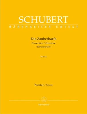 Die Zauberharfe, Ouverture D. 644 - Partitur SCHUBERT laflutedepan