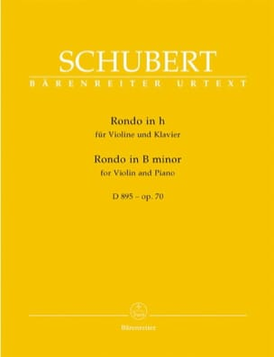 Franz Schubert - Rondo in Minor Si Op.70 - D895 - Sheet Music - di-arezzo.com
