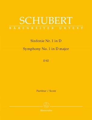 SCHUBERT - Symphony No. 1 D. 82 - Partitur - Sheet Music - di-arezzo.co.uk
