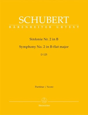SCHUBERT - Symphony Nr. 2 B-Dur D. 125 - Partitur - Sheet Music - di-arezzo.co.uk