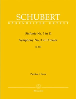 SCHUBERT - Symphony Nr. 3 D Major D. 200 - Partitur - Sheet Music - di-arezzo.com