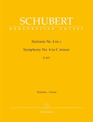 SCHUBERT - Symphony Nr. 4 c-moll D. 417 - Partitur - Sheet Music - di-arezzo.co.uk