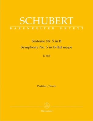 SCHUBERT - Symphony Nr. 5 B-Dur D. 485 - Partitur - Sheet Music - di-arezzo.co.uk