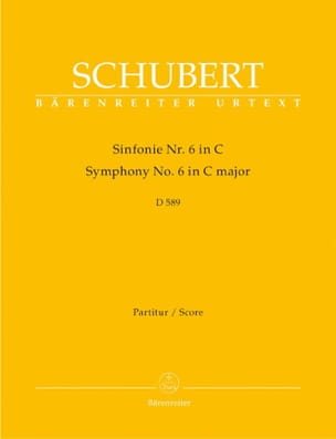 SCHUBERT - Symphony Nr. 6 C-Dur D. 589 - Partitur - Partition - di-arezzo.co.uk