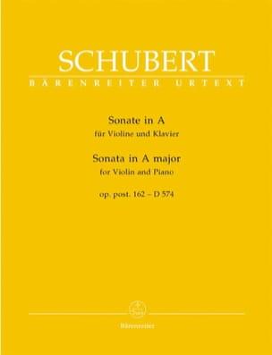 SCHUBERT - Sonate A-Dur op. posth. 162 - D 574 - Partition - di-arezzo.fr