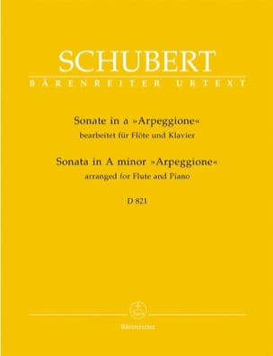 SCHUBERT - Arpeggione Sonata in A minor - Sheet Music - di-arezzo.co.uk