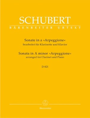 Sonate In A-Moll Arpeggione D.821 SCHUBERT Partition laflutedepan