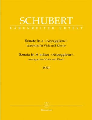 SCHUBERT - Sonata in the Minor Arpeggione D 821 - Viola and Piano - Sheet Music - di-arezzo.co.uk