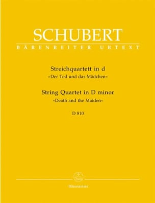 SCHUBERT - String Quartet The Girl and the Death D minor D 810 - Parts - Sheet Music - di-arezzo.co.uk