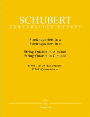 SCHUBERT - Streichquartette a-moll D 804 op. 29 / c-moll D 703 -Stimmen - Partition - di-arezzo.fr