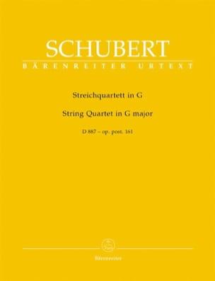 Streichquartett D 887 G-Dur -Stimmen SCHUBERT Partition laflutedepan