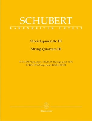 SCHUBERT - String Quartets - Volume 3 - Instrumental Pieces - Sheet Music - di-arezzo.co.uk