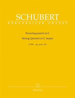 SCHUBERT - Streichquintett in C Dur - D 956 op. post. 163 - Partition - di-arezzo.fr