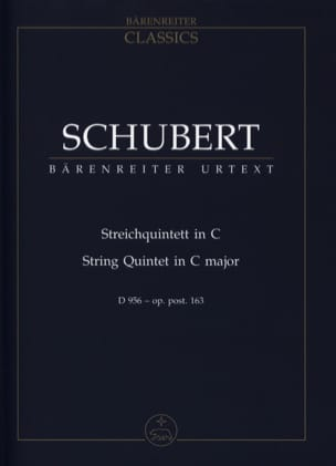 SCHUBERT - Streichquintett for 2 Violinen, Viola and 2 Violoncelli D 956 C-hard - Sheet Music - di-arezzo.com