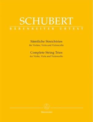 SCHUBERT - Sämtliche Streichtrios -Parties instrumentales - Partition - di-arezzo.fr