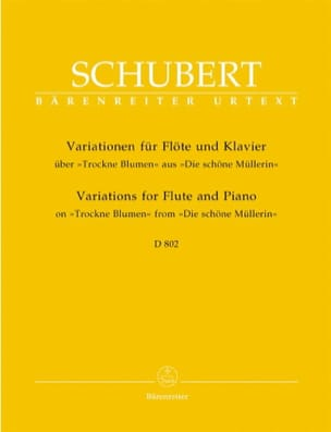 SCHUBERT - Variationen über Trockne Blumen D. 802 - Flöte Klavier - Sheet Music - di-arezzo.co.uk