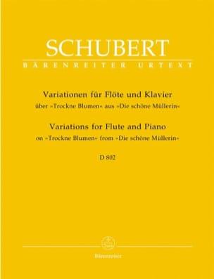 Franz Schubert - Variationen über Trockne Blumen D. 802 – Flöte Klavier - Partition - di-arezzo.fr