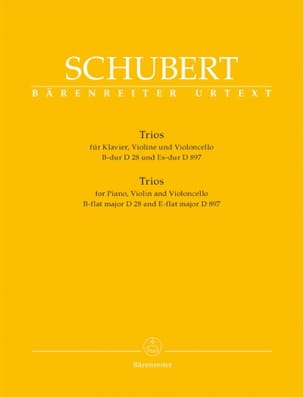 SCHUBERT - trios: piano, violin, cello in B major D 28 and E flat Major D 897 - Sheet Music - di-arezzo.co.uk