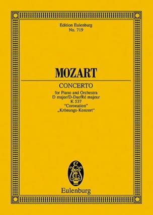 Wolfgang Amadeus Mozart - Klavierkonzert Nr. 26 D-Dur KV 537 – Partitur - Partition - di-arezzo.fr