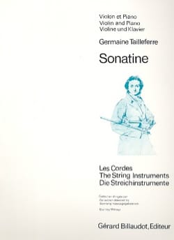 Germaine Tailleferre - Sonatine - Partition - di-arezzo.fr