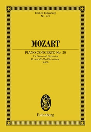 MOZART - Klavierkonzert Nr. 20 D-Moll Kv 466 - Partitur - Sheet Music - di-arezzo.com