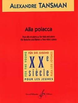 Alla Polacca - Alto - Alexandre Tansman - Partition - laflutedepan.com