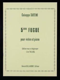 Giuseppe Tartini - 5ème Fugue - Partition - di-arezzo.fr