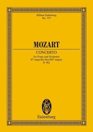 MOZART - Klavier-Konzert Es-Dur - Kv 482 - Partition - di-arezzo.fr