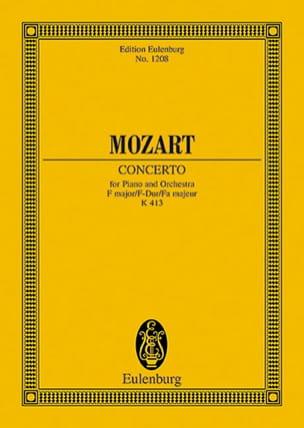 Wolfgang Amadeus Mozart - Klavier-Konzert F-Dur Kv 413 - Partition - di-arezzo.fr