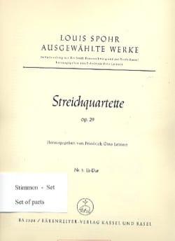 Louis Spohr - Streichquartett Es-Dur op. 29 n° 1 -Stimmen - Partition - di-arezzo.fr