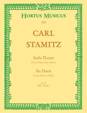 6 Duette, op. 27 Heft 2 - 2 Flöten o. Violinen STAMITZ laflutedepan