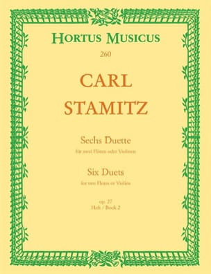 Carl Stamitz - 6 Duette, op. 27 (Heft 2) – 2 Flöten (o. Violinen) - Partition - di-arezzo.fr