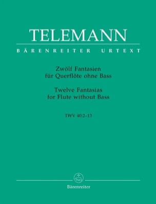 TELEMANN - 12 Fantasies for Flute Alone - Sheet Music - di-arezzo.co.uk