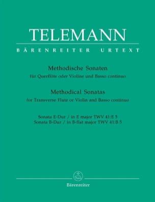 TELEMANN - 12 Methodische Sonaten - Bd. 5 - Flöte o. Violine u. Bc - Partition - di-arezzo.fr