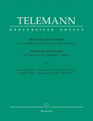 TELEMANN - 12 Methodische Sonaten - Bd. 6 - Flöte o. Violine u. Bc - Sheet Music - di-arezzo.co.uk