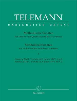 TELEMANN - 12 Methodical Sonatas Volume 1 - Sheet Music - di-arezzo.co.uk