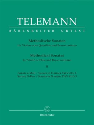 TELEMANN - 12 Methodische Sonaten Bd. 2 - Flute Violine u. Bc - Partition - di-arezzo.co.uk